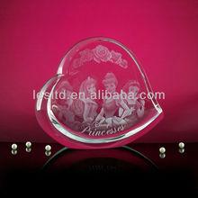 3d laser crystal heart