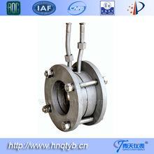 restrictive flow orifice plate meter