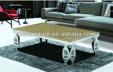 STAINLESS STEEL FRAME AND MARBLE TOP 2013 COFFEE TABLE
