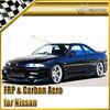 For Nissan Skyline R33 GTST DO Style Fiber Glass Full Body Kit Bumper Side skirt