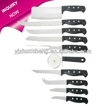 New design 10 pcs stainless steel kitchen knife set