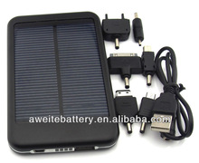 high quality 5000mAh portable multi-function solar battery charger mobile solar multi charger for iphone/ipad