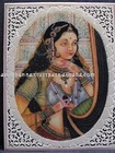 Traditional lady painting , Marble Painting