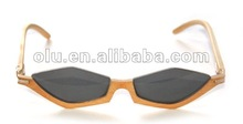 2012 Newest fashion bamboo sunglasses/designer wooden sunglasses/ hot sell eco -friendly high quality wood eyewear