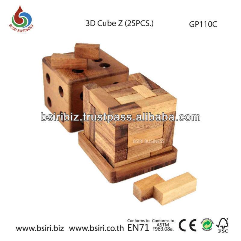 3d Wooden Cube Puzzles Wooden Puzzle 3d Cube z
