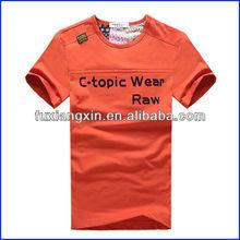 custom logo fitted soft fashion hign qualityplain t-shirt