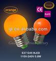 Aprobado por la ce e27/b22 redonda forma g45 decoración led bombilla de la lámpara