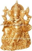 Lord Ganesh - Hindu God Figure Artifact made from Brass Indian God Souvenir Metal Craft