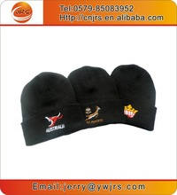 China factory wholesale promotional custom embroidered hat,sport team beanie hat