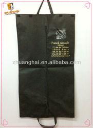 non woven black custom suit cover