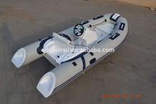 CE certificate 3.9m short shaft engine fiberglass inflatable boats