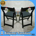 Negro de plástico silla del patio xym-t86