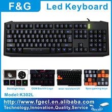 Blue color usb led backlit keyboard arabic