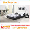 Newest design soft leather bed bedroom furniture prices cheap on sale (G967)