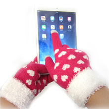 2014 Stylish Patterned Knitted Screen Touching Hand Warmer Gloves For Iphone or Ipad