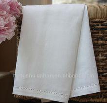 100% cotton plain white cotton tea towels