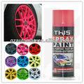 destacável do carro colorido pintura de borracha