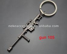 2013 newest CF game gun shaped metal key ring