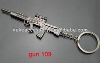 2013 newest CS game gun shaped metal keychain