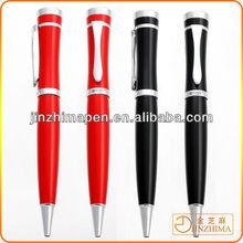 Red metal pen