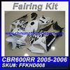 For HONDA 05 06 600RR Fairings CBR600RR