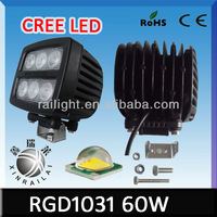 super bright 60w cree waterproof IP68 high lumen auto lighting systems RGD1031