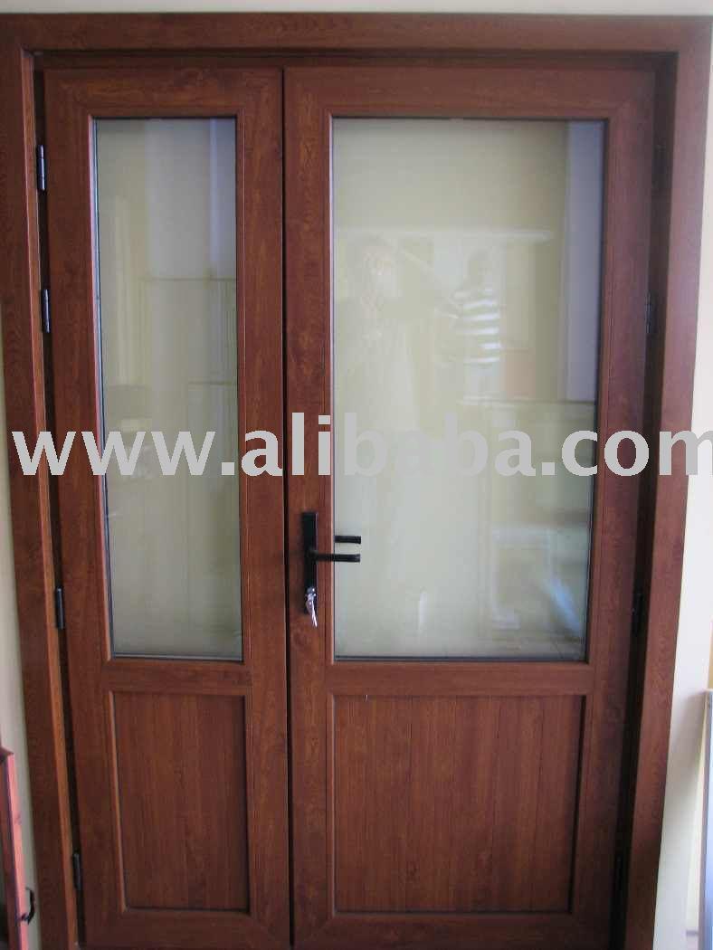 Pvc terraza de puerta puertas identificaci n del producto - Puertas exteriores de pvc ...