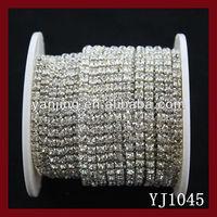 garment accessories crystal rhinestone trimming rhinestone chain trim