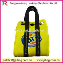Yellow 6 Bottle Neoprene Handle Bags