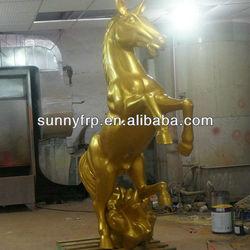 Fiberglass horse sculpture
