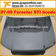 STI Style Carbon Fiber 2007-08 Forester Hoods/Bonnet for Subaru forester