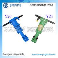 Y19A/Y20/Y24/Y26 Pneumatic portable drilling machine/Hand held rock drill/jack hammer