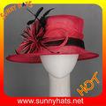 engraçado mulheres vermelho casamento derby hat chapéu igreja vestido partido chapéu