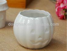 china manufacturer custom ceramic flower vase small indoor pumpkin Halloween vase