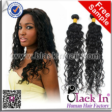 Natural Curly Wave Weave Virgin Hair Extensions Brazilian Remy Hair
