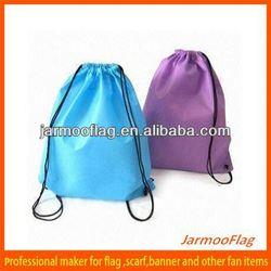 custom cheap promotion drawstring art nylon bag