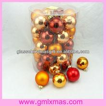 Made in China 2015 hot sale wholesale christmas glass ball decor xmas glass decor