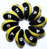 neoprene yellow golf club iron head cover