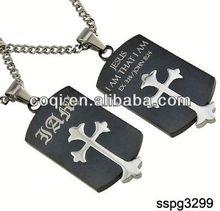 2014 wholesale fashion stainless steel Cross pendant Religious Pendant poker gift