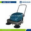 Chinese factory hand push street sweeper, sidewalk cleaner, driveway floor sweeper