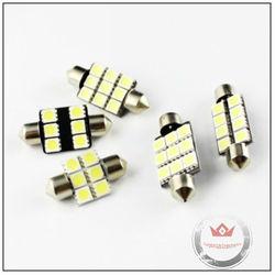 Wholease high brighness SV8.5 socket 12 volt led dome light white color 31mm 36mm 39mm 41mm