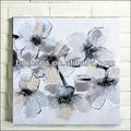 flor pintura abstrata sobre tela