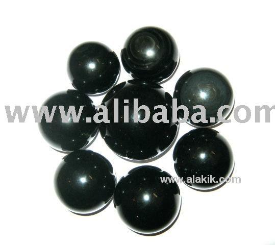 Venta al por mayor negro obsidiana& bolas de esferas: esferas de obsidiana