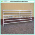 6 barras de acero en caliente sumergido galvanizado agricultueral y cercado de ganado panel con barra de medio