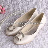 Bridal Flat Crystal Wedding Shoes