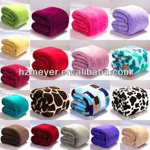 2014 Hot Luxury 100% Polyester Solid&Printed Super Soft Warm Cheap High Quality Animal Embroidery Coral Fleece Baby Blanket