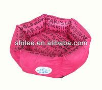 Pink Princess dog bed Dog house pet bed