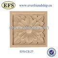 Tallado a mano decorativos para el hogar de madera hoja de adorno( efs- cz- 27)
