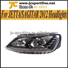For 2012 SAGITAR/JETTA Halogen Headlights Headlamps for VW DRL