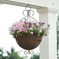 artificial flor de vime cesta de suspensão